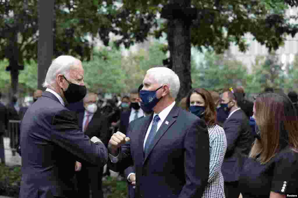 Prezidentliyə Demokrat namizəd Co Bayden və vitse-prezident Mayk Pens 11 sentyabr hücumlarının ildönümündə.