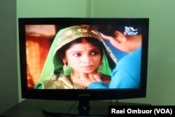 An Indian soap opera program is broadcast on one of Kenya's local television channels.
