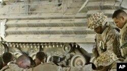 이라크에서 작전을 수행중인 미군 병사들