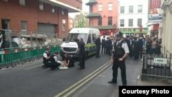 英國移民局被指2018年7月5日在倫敦唐人街撞倒一婦人事件引發7月24日大罷市。( 倫敦華人資訊中心圖片)