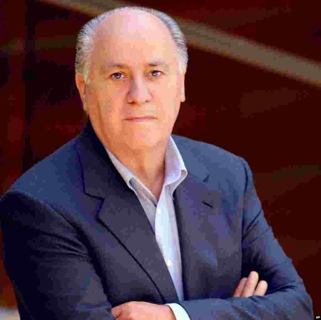 Amancio Ortega, age 76. Net worth: $57 billion