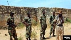 Pasukan Ethiopia di dekat perbatasan dengan Eritrea.