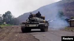 Un char d'assaut de l'armée congolaise