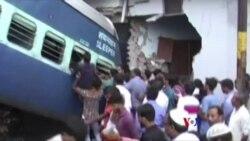 印度警方調查火車脫軌致23人死亡事故(粵語)
