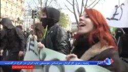 اعتراض دانشجویان فرانسوی به طرح اصلاح قانون کار و برخورد پلیس