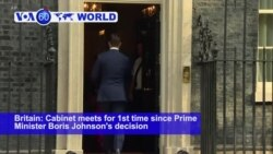 VOA60 World - Britain: Cabinet meets for 1st time since Prime Minister Johnson's decision to prorogue Parliament