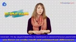 «Английский за минуту»: To Split Hairs – придираться к мелочам