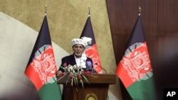 جمهور رئیسم محمد اشرف غني د خلکو نه وغوښتل چې د امنیتي او دفاعي ځواکونو ملاتړ وکړي.