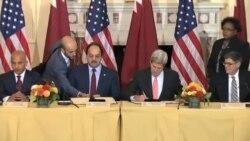 آمریکا و قطر یادداشت تفاهم همکاری اقتصادی امضا کردند