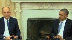 奧巴馬與意大利總理討論經濟議題