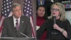 Hillari Klinton və Ceb Buş seçki kampaniyasında sınaqlarla üzləşir