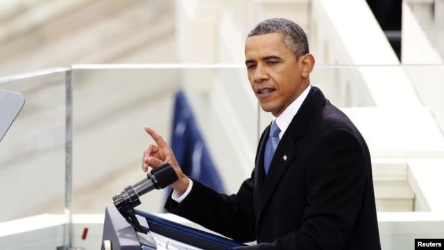 Tổng thống Obama đọc diễn văn trong buổi lễ nhậm chức