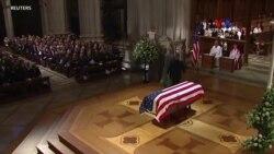 Նախագահ Բուշ ավագի վերջին հրաժեշտի արարողությունը գործող նախագահի փոխարեն վարեց Բուշ կրտսերը