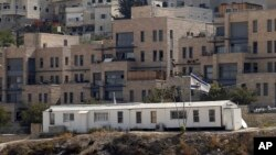 IA general view of Nof Zion residential area is seen Wednesday, Oct.25, 2017, in east Jerusalem.