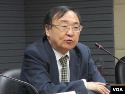 台灣文化大學政治學系講座教授陳一新 (美國之音張永泰拍攝)