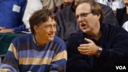 Dua pendiri Microsoft: Paul Allen (kanan) dan Bill Gates (Foto: dok).