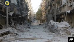 Знищений війною район Алеппо