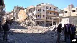 Razrušeni grad Homs u Siriji, 6. mart 2013.
