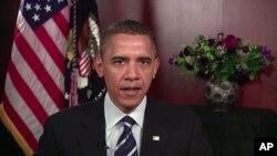 美国总统奥巴马周六发表每周例行讲话