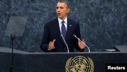 El presidente de Estados Unidos, Barack Obama, se dirige a la Asamblea General de Naciones Unidas.