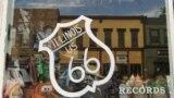 route 66 sign in Atlanta Illinois
