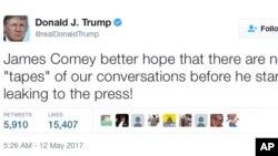 သမၼတ Trump က သူ႔ရဲ႕တြီတာ လူမႈကြန္ရက္ေပၚမွာ ေရးသားတဲ့စာ။