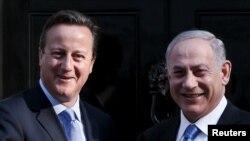 Britanski premijer Dejvid Kameron prilikom susreta sa izraelskim premijerom Benjaminom Netanjahuom u Londonu. 10. septembar, 2015.