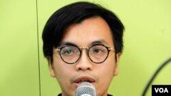 香港資訊科技界選委陳宇明 (美國之音特約記者 湯惠芸拍攝)