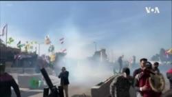伊拉克示威者連續第二天在美國駐巴格達使館外抗議