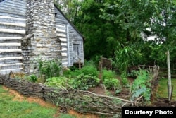 A recreated slave garden at Smithfield Plantation in Virginia. (Photo courtesy of Historic Smithfield Plantation)