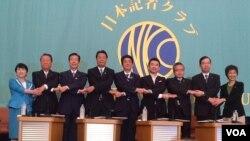 日本主要政党党首公开讨论会 迎战参议院选举(美国之音小玉拍摄)