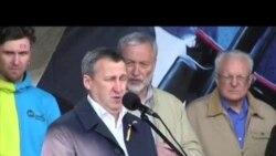 تجمع هزاران نفر در کيف در اعتراض به تهاجم روسیه