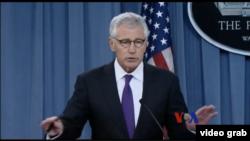 美國國防部長哈格爾 (視頻截圖)
