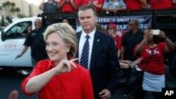 希拉里克林頓在拉斯維加斯的競選集會上