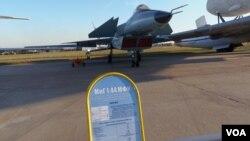 2015年莫斯科航展上展出的米格1.44战机。中国歼-20 被指像米格1.44。