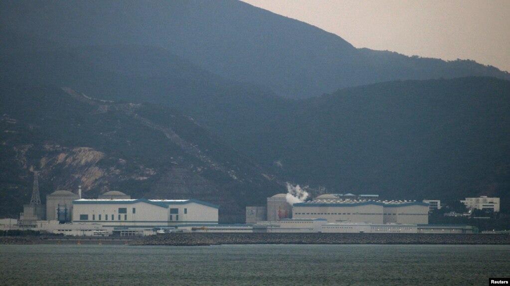 资料照:中国南方城市广东省惠州市的大亚湾大亚湾核电站(photo:VOA)