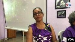 Líder indígenaLottie Cunningha habla de las vulnerabilidades de las poblaciones originarias. [Foto: Daliana Ocaña, VOA].