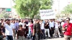 Iraqi-Kurdish Teachers Vow to Continue Protest