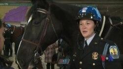 У Вашингтоні відбулася церемонія випуску чергової групи поліцейських вершників. Відео