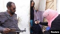 Seorang anak perempuan mendapatkan vaksin tetes polio di depan rumahnya di Karachi, Pakistan (15/2). (Reuters/Akhtar Soomro)