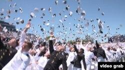 Ceremonija dodele diploma na Pomorskoj akademiji u Anapolisu koju je završio Nikola Pejović iz Crne Gore