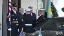 哈萨克斯坦总统访问白宫