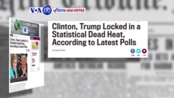VOA60 Elections - Slate: Clinton and Trump in a virtual dead-heat