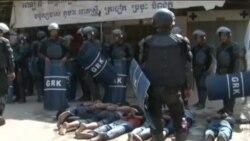 CAMBODIA PROTEST CLASH