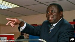 Zimbabwean PM and MDC President Morgan Tsvangirai speaks during a press conference in Harare (file photo).