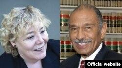 جان کانیرز از ایالت میشیگان (راست) و زویی لافگرن از ایالت کالیفرنیا، دو عضو ارشد کمیته قضایی مجلس نمایندگان آمریکا