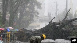 南瑪都吹襲菲律賓。