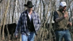Darrell Stevenson, left, is an American cowboy and cattle rancher