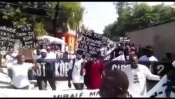 Manifestasyon nan Plato Santral Kont Kagotaj Fon Petro Caribe a