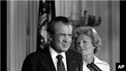 President Richard M. Nixon and his wife Pat Nixon